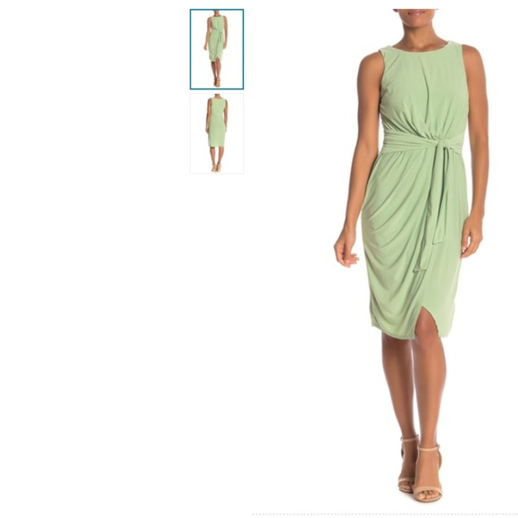 Plus Size Superfoxx Mint Faux Wrap Dress Large NWT